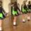Աղջիկները կանգնեցին մի շարքով…ուշադիր նայեք նրանց ոտքերին, երբ նրանք պտտվեն